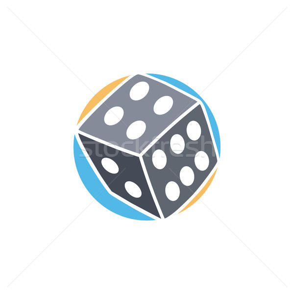 gamble dice icon simple flat logo vector Stock photo © vector1st