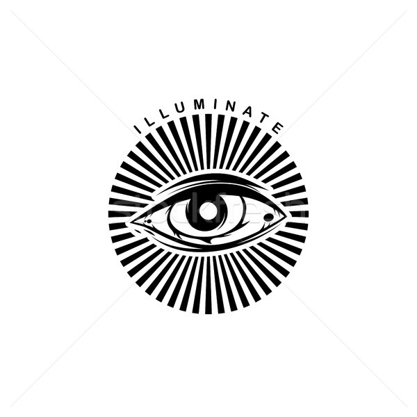 one eye theme sign template Stock photo © vector1st