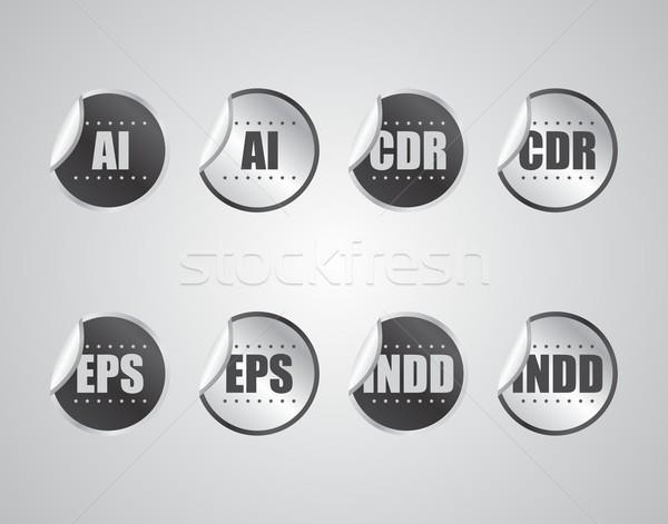 Label наклейку вектора графических искусства Сток-фото © vector1st