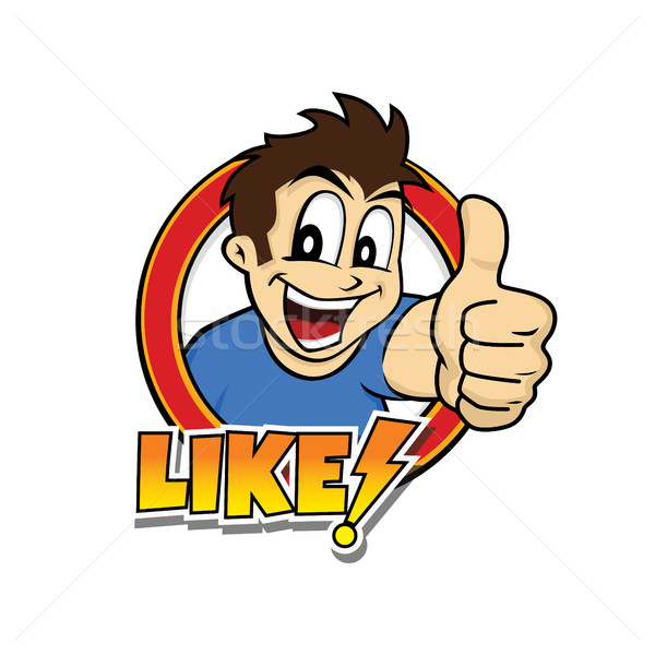 thumb up cartoon character Stock photo © vector1st