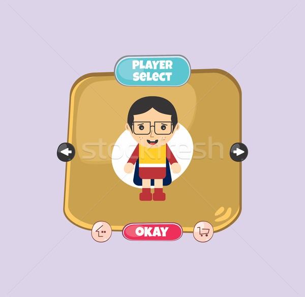Hős karakter opció játék tőke alkotóelem Stock fotó © vector1st