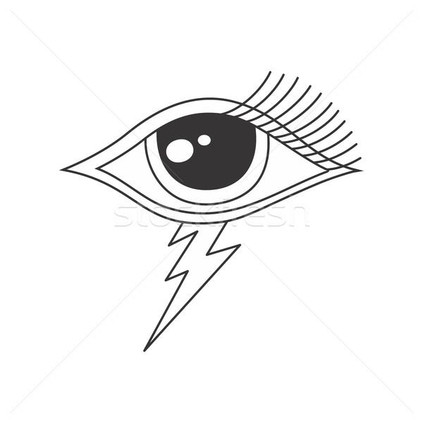 Bir göz Tanrı grafik sanat Stok fotoğraf © vector1st