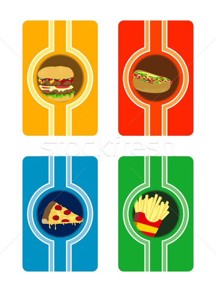 Essen trinken editierbar Vektor Grafik Kunst Stock foto © vector1st