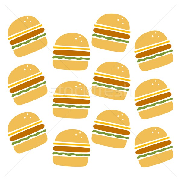 Burger pattern set vettore arte illustrazione Foto d'archivio © vector1st