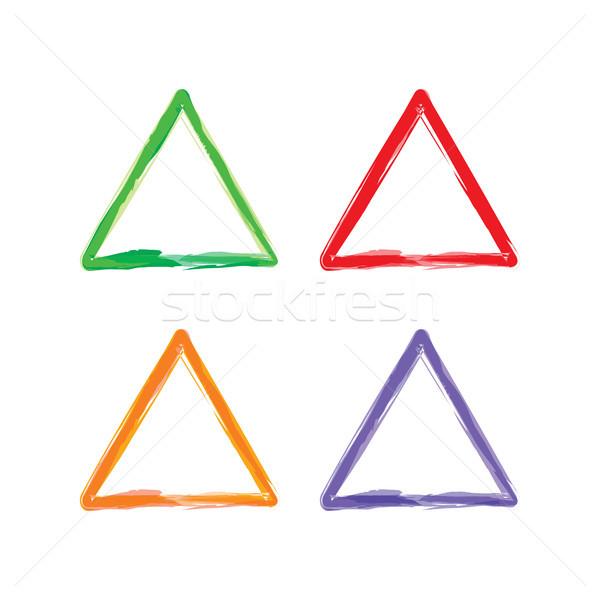 Triángulo color marco vector arte Foto stock © vector1st