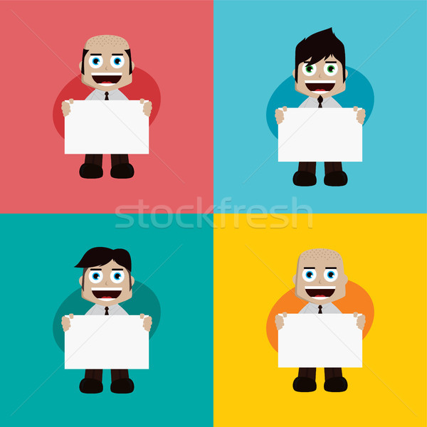 Zakenman manager werk cartoon Stockfoto © vector1st