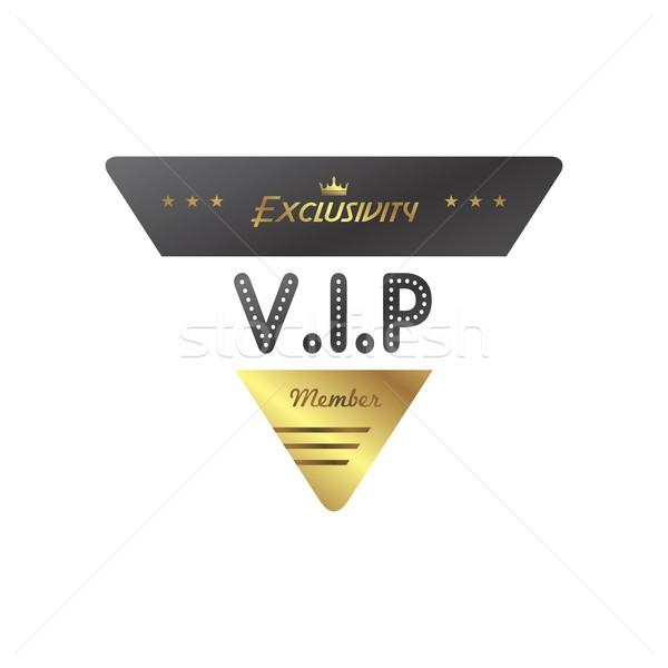 Vip membro badge vettore arte illustrazione Foto d'archivio © vector1st