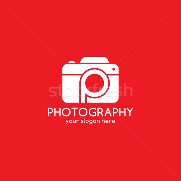 Fotózás logotípus kamera vektor művészet illusztráció Stock fotó © vector1st
