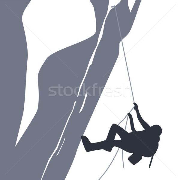 Escursionista avventuriero vettore arte illustrazione Foto d'archivio © vector1st