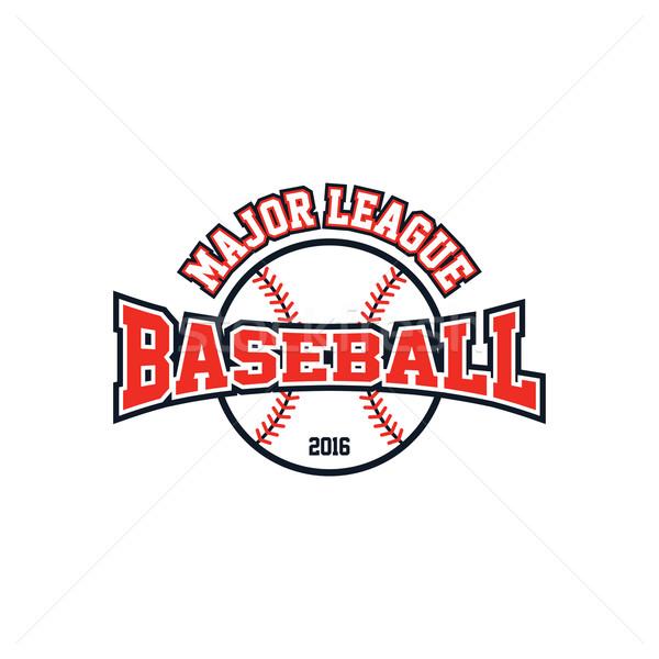 Baseball liga sport vektor művészet illusztráció Stock fotó © vector1st