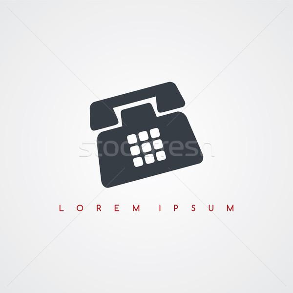 telephone icon sign logotype Stock photo © vector1st