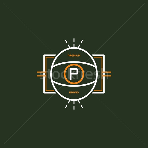 modern insignia vintage label Stock photo © vector1st