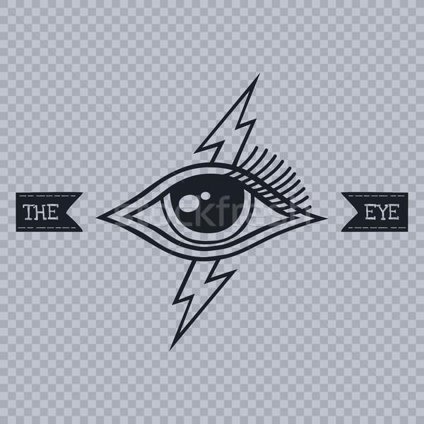 Alle oog vector kunst illustratie reizen Stockfoto © vector1st