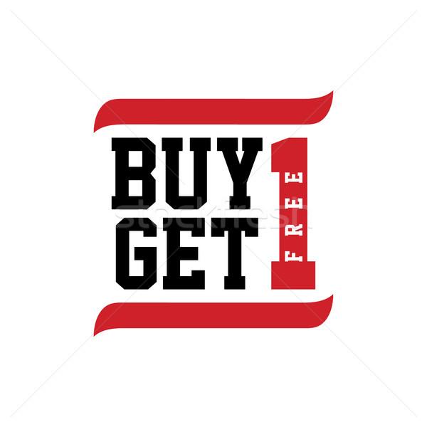 Siyah kırmızı metin satın almak bir ücretsiz Stok fotoğraf © vector1st