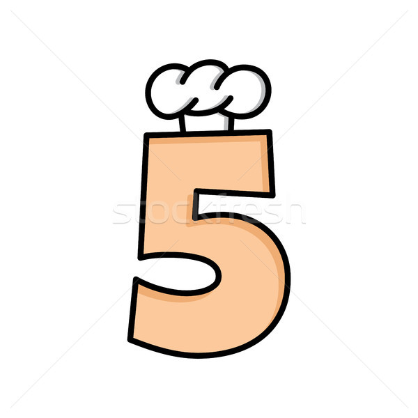 Szakács sapka logo logotípus szám étel terv Stock fotó © vector1st