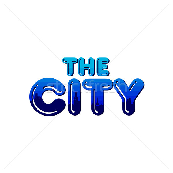 big city real estate realty logo template Stock photo © vector1st