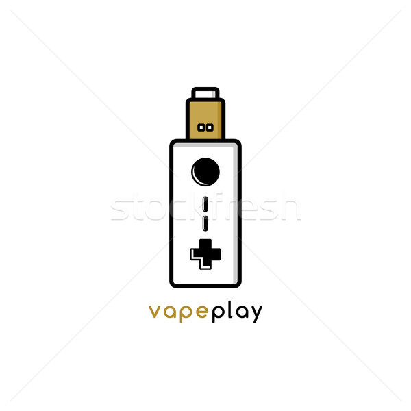 video game joystick console theme vaporizer vape Stock photo © vector1st