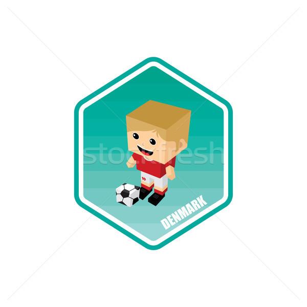 soccer isometric theme denmark Stock photo © vector1st