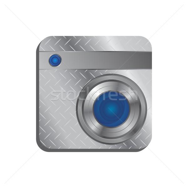 Mídia interface câmera vetor gráfico arte Foto stock © vector1st