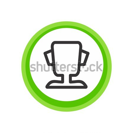 trophy flat icon Stock photo © vector1st