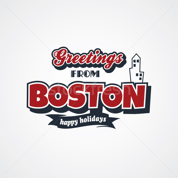 Boston vakantie vector kunst illustratie Stockfoto © vector1st