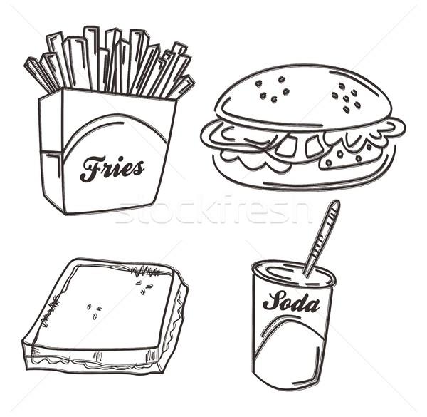 Alimentaire boire art vecteur graphique design Photo stock © vector1st
