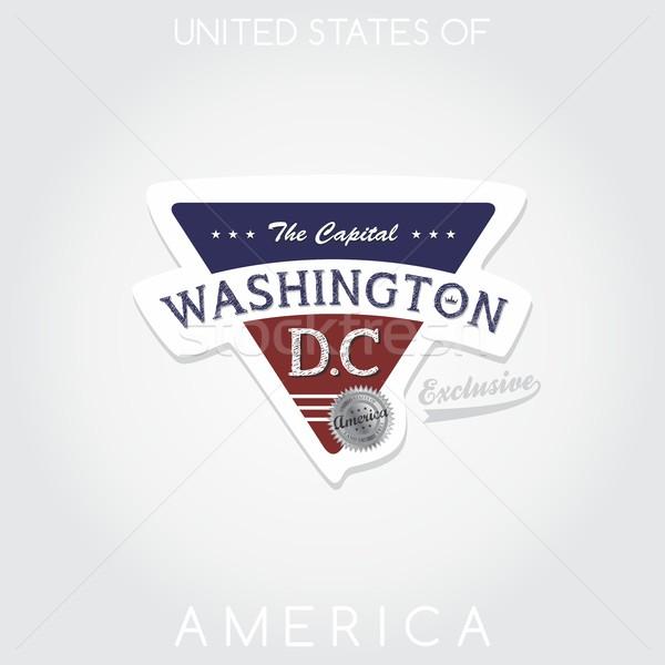Amerika embleem grafische kunst ontwerp label Stockfoto © vector1st