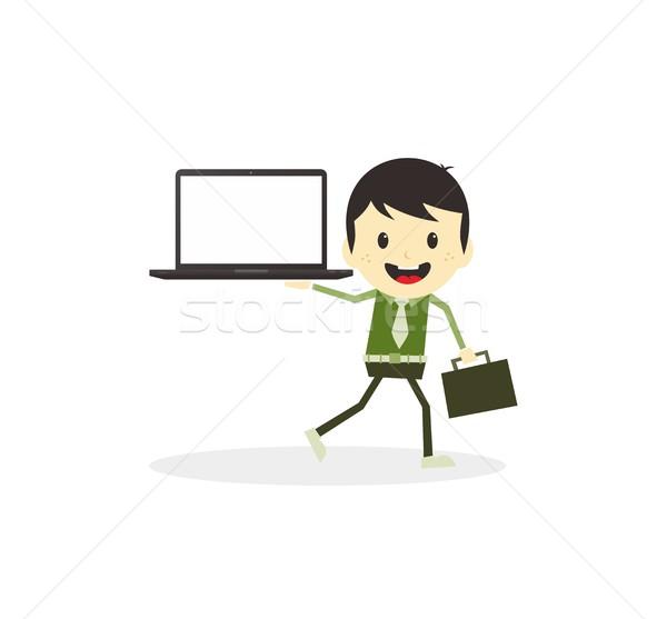 бизнеса презентация вектора искусства иллюстрация Сток-фото © vector1st