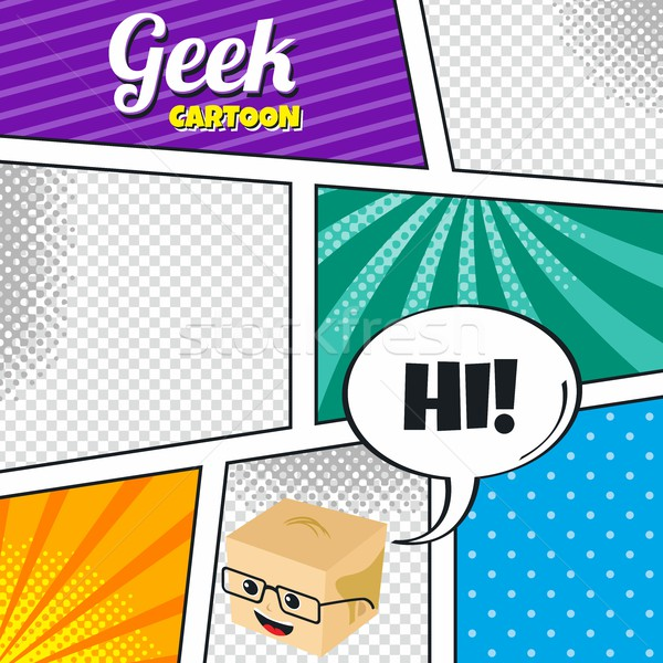cartoon theme comic template Stock photo © vector1st