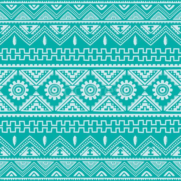 Magenta őslakos amerikai kisebbségi minta vektor Stock fotó © vector1st