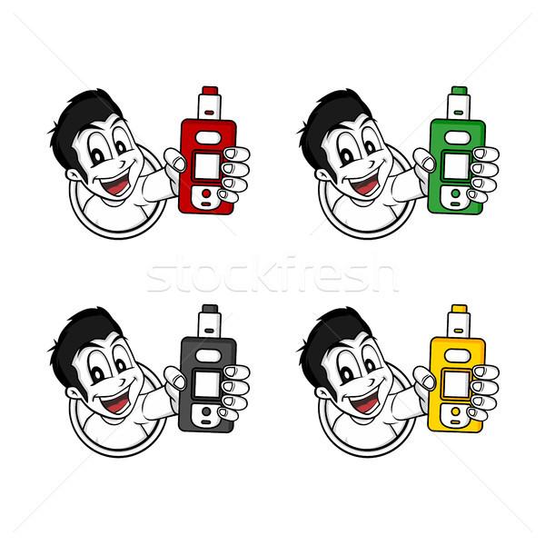 Elektromos cigaretta pára élet vektor férfi Stock fotó © vector1st
