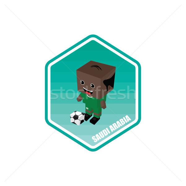 saudi arabia soccer isometric theme Stock photo © vector1st