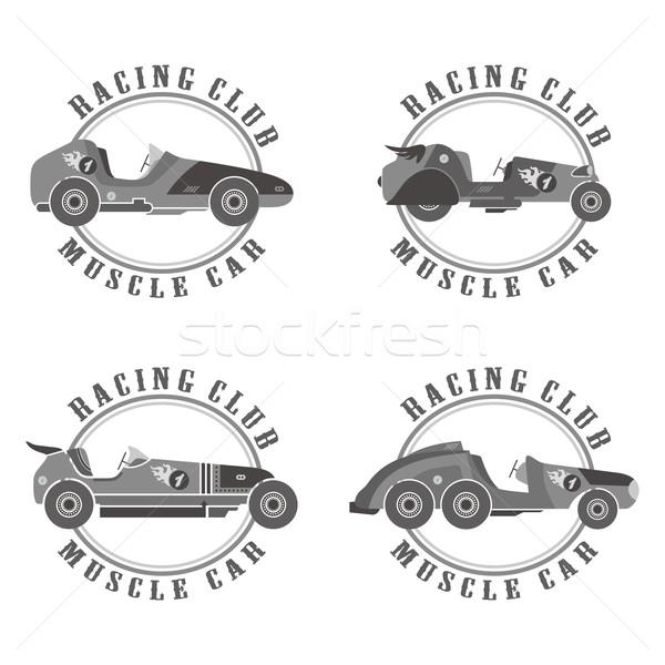 Race auto vector grafische kunst ontwerp Stockfoto © vector1st