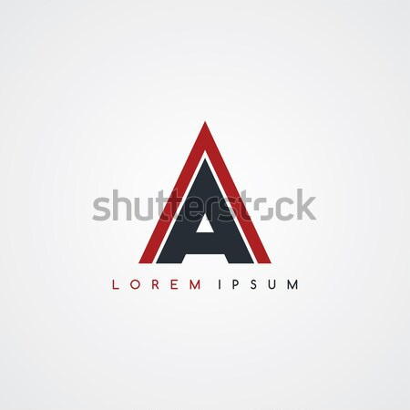 Carta logotipo preto vermelho branco teia Foto stock © vector1st