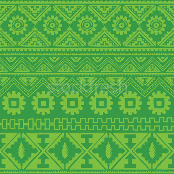green native american ethnic pattern Stock photo © vector1st