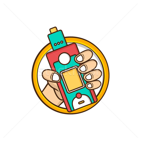 Elétrico cigarro vapor vida vetor mão Foto stock © vector1st