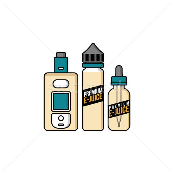 Kişisel sıvı plastik şişe vektör sanat Stok fotoğraf © vector1st
