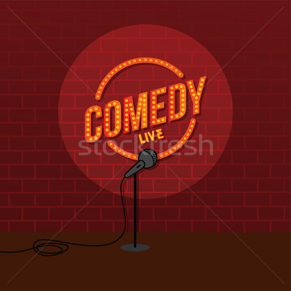 Stock photo: stand up comedy open mic