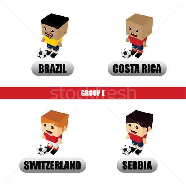 группа команда Россия футбольный турнир вектора искусства Сток-фото © vector1st