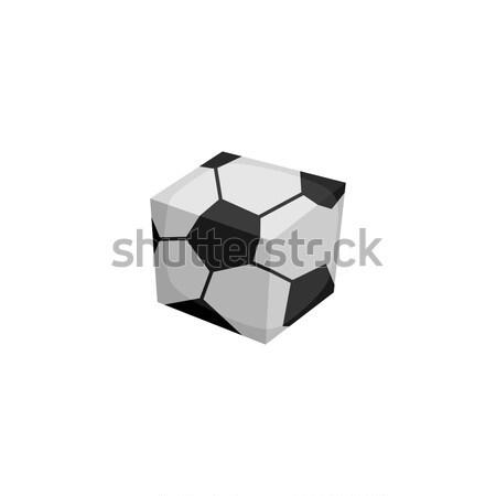 square soccer ball isometric theme vector logo Stock photo © vector1st