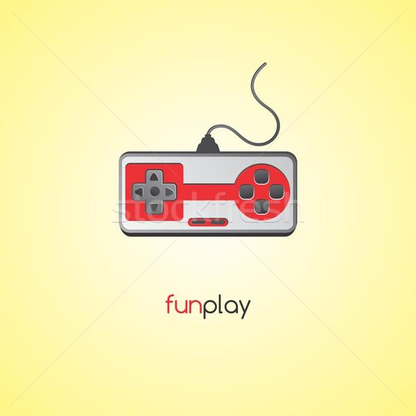 Videojáték konzol szerkeszthető vektor grafikus művészet Stock fotó © vector1st