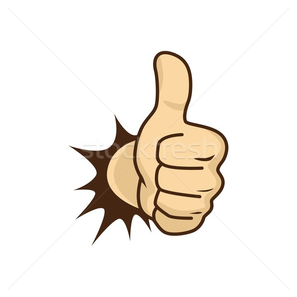 thumbs up hand Stock photo © vector1st