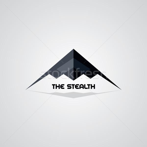 Gizlilik gemi logo şablon vektör sanat Stok fotoğraf © vector1st