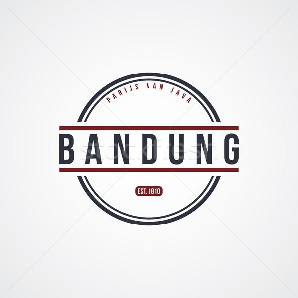 Badge Indonesië label vector kunst illustratie Stockfoto © vector1st