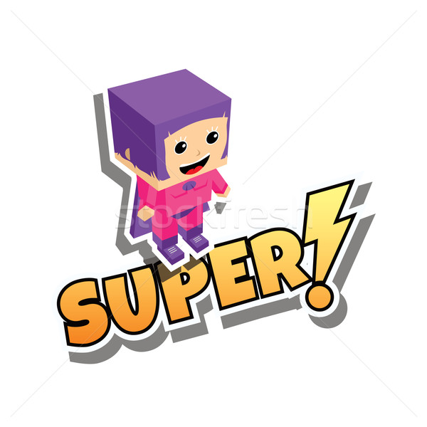 スーパーヒーロー ママ 漫画 ベクトル 芸術 ストックフォト © vector1st