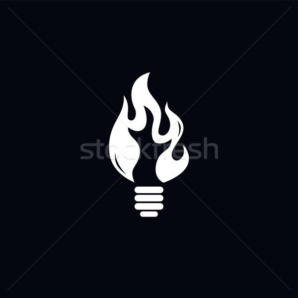 Brand hot lamp vector kunst illustratie Stockfoto © vector1st