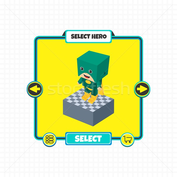 hero character option game assets element Stock photo © vector1st