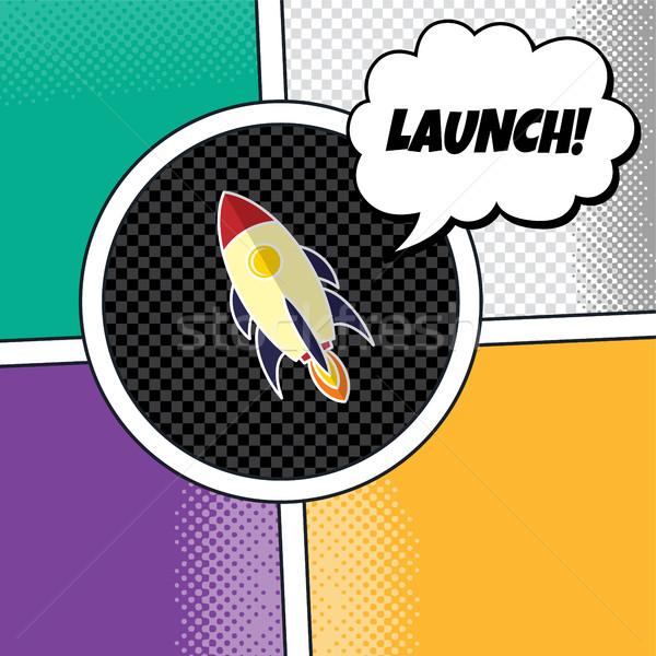 Raket schip vector kunst illustratie Stockfoto © vector1st