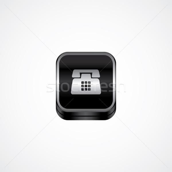 Metal placa icono botón ilustración Foto stock © vector1st