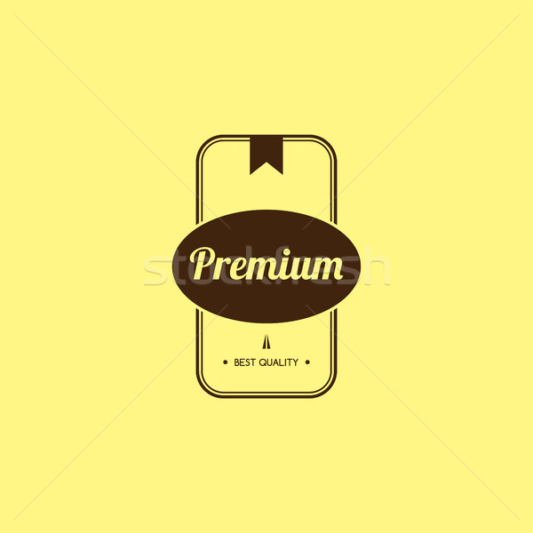 Premie kwaliteit garanderen product label badge Stockfoto © vector1st